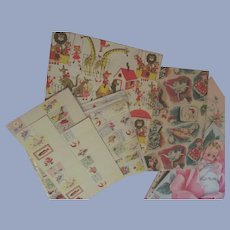 Vintage Special Occasional Wrapping Paper Plus Matching Tags