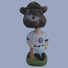 "1988 MLB Cubs Twin, Black Hat 8""  Bobble Head Nodder"