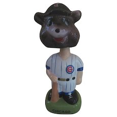 "1988 MLB Cubs Twin, Black Hat 8""  Bobble Head Nodder"