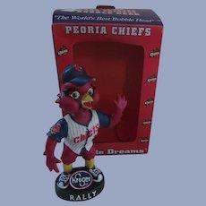 Peoria Chiefs Rally Redbird Baseball Bobble Head Nodder with Box