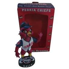 Peoria Chiefs Rally Redbird Baseball Bobble Head Nodder with Box