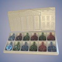 Wheaton President Series #1 Carnival Glass Bottle Set, 1970s