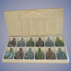Wheaton President Series #2 Carnival Glass Bottle Set
