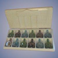 Wheaton President Series #3 Carnival Glass Bottle Set