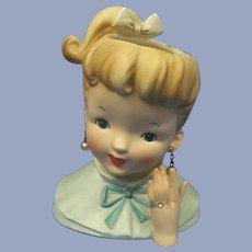 "Napco 1960 Ponytail Girl 6"" Head Vase"