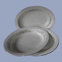 3 Wedgwood Westbury Vegetable Bowls England