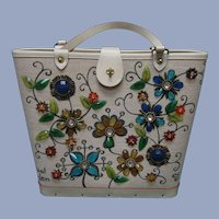 Enid Collins Jewel Garden Hand Bag Purse