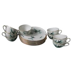 8 Noritake China Bamboo Snack Sets
