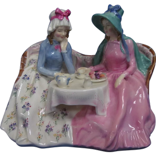 Large Royal Doulton, Afternoon Tea, Figurine