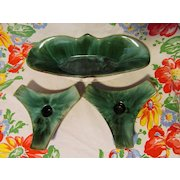 Blue Mountain Pottery, Mid Century Bowl & Candle Holders