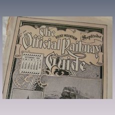 1904 Rocky Mountain Official Railway Guide, Time Tables