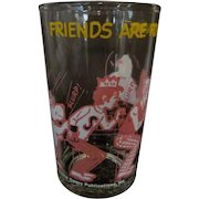 1973 Archie, Friends Are For Sharing Welchs Jelly Glass,Pink & Yellow