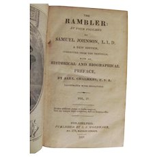 1827 The Rambler, Vol IV, Samuel Johnson, Woodward