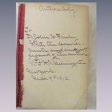 Author's Copy, 1911 Progress and Prosperity, William DeHertburn Washington, Dr John H Finley