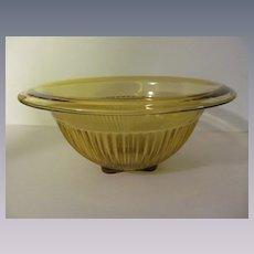 """Federal Amber 8 1/2"""" Ribbed Mixing Bowl"""