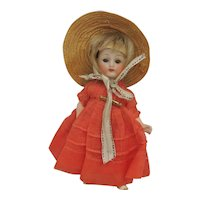 "5"" Antique All Bisque Sweet Girl"