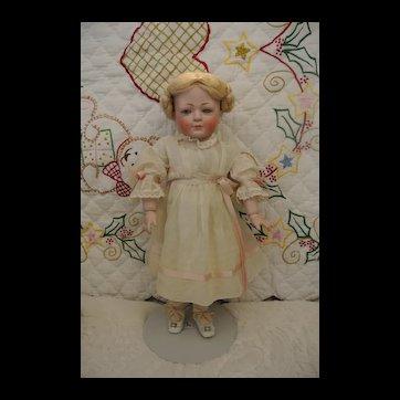 """Rare 15"""" Antique Kestner 189 girl with glass eyes"""