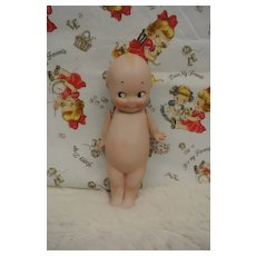 "5 1/4"" All Bisque Vintage Kewpie w/Label"