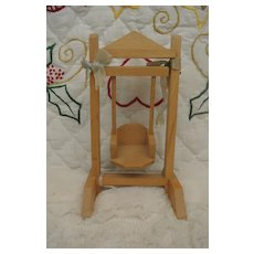 "Adorable Small Doll Swing-6 1/4"" tall"
