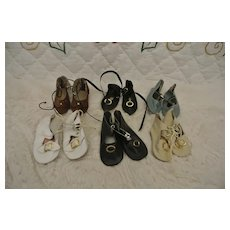 Lot of 6 Small Replacement Doll Shoes in excellent condition.