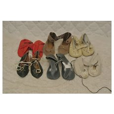 Lot of 6 Medium Replacement Doll Shoes in excellent condition.