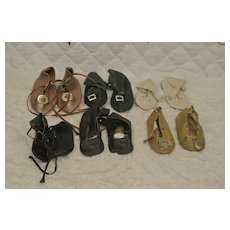 Lot of 6 Medium-Large Replacement Doll Shoes in excellent condition.
