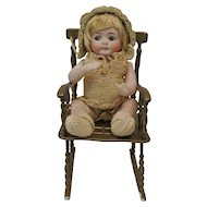 """Adorable 7"""" Rare All Bisque Googlie Incised 218"""