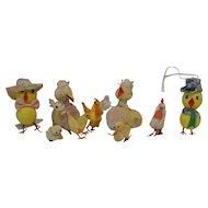 7 Vintage Easter Chicks-Adorable