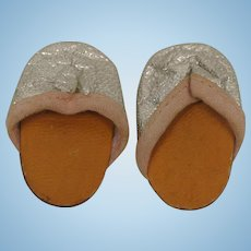 Vintage Tiny Terri Lee Slippers-Fuzzy Soles-Ship Free