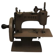 Early Child's Toy Singer Sewing Machine