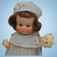 """9"""" Antique Fired Bisque Just Me by Armand Marseille-Adorable"""