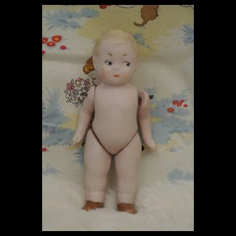 "4"" Antique All Bisque Sweet Hertwig Doll"