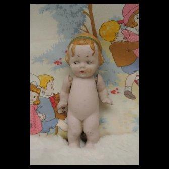 """Adorable Antique 3 3/4"""" Googly All Bisque Girl"""