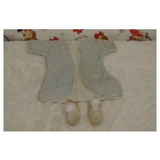 Vintage Ginny Robe and Pom Pom Slippers-Free Shipping.