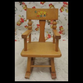 Vintage Strombecker Rocking Chair for Ginny, Muffie or Alexanderkins