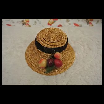 "Vintage Pretty 5 1/2"" Straw Doll Hat"