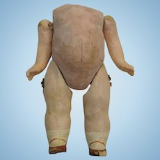"""Antique 5"""" Googly Body for 8"""" Doll"""