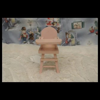 Strombecker Vintage Adorable Wood Small Highchair