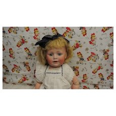 "Darling 16"" Antique Bisque 247 Kestner Toddler"