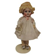 "Adorable 8"" Antique Kestner 143 with Original Pate & Wig"