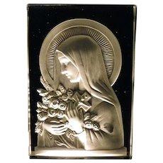 Night Light Art Deco, Sainte Therese, French Verlys