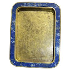 Rare antique photo frame lapis lazuli and gilded bronze 19th century French - Red Tag Sale Item