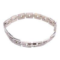 Diamond White Gold Flexible Link Bracelet