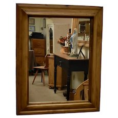 Antique Pine Frame with New Mirror Glass