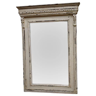 Painted Pine and Oak Mirror