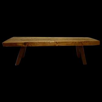 Massive Oak Pig Bench Coffee Table