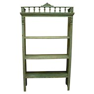 Painted Pine Utility Shelf or Bookshelf