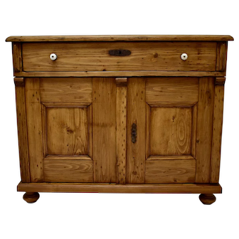Pine Two Door Dresser Base