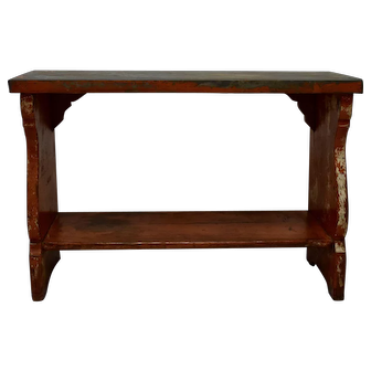 Painted Pine Zinc-Topped Water Bench