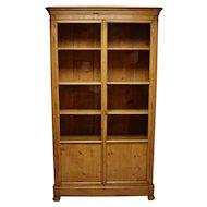 French Pine Glazed Bookcase